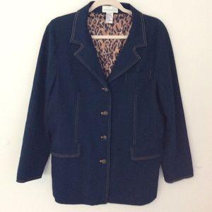 Susan Graver Denim Blazer - Jacket